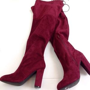 Charlotte Russe Merlot Over the Knee Boots 10-N851
